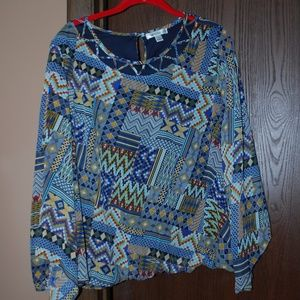 EUC Blouson Top w/Butterfly Sleeves - L